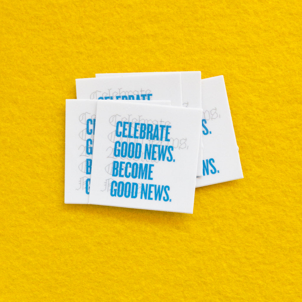 Good News Stickers x5