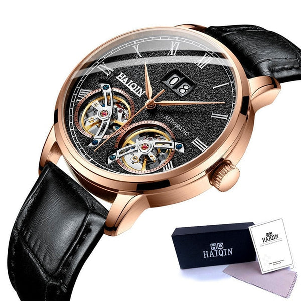 HAIQIN Men's watches Mens Watches top brand luxury Automatic mechanical sport watch men wirstwatch Tourbillon Reloj hombres 2018