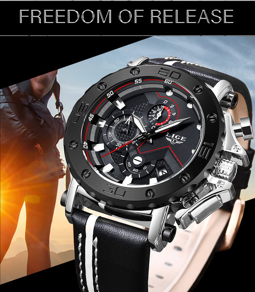 Fashion Wristwatches Men LIGE Top Brand Sport Wristwatches Men's Quartz  Man Casual Military Waterproof Wrist Wristwatch