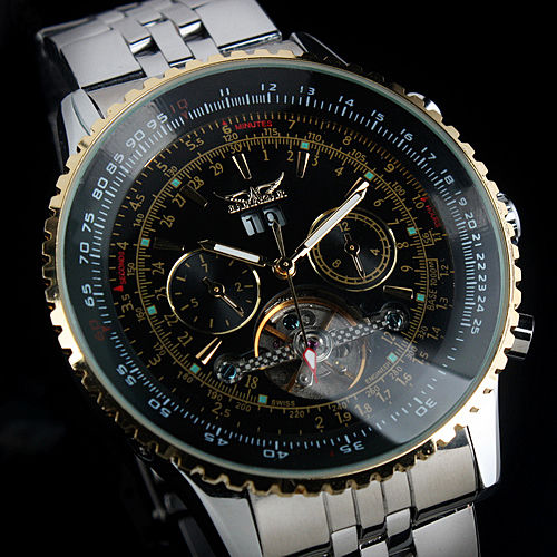 Mens Wristwatches Top Brand Luxury JARAGAR Men Military Sport Wristwatch Automatic Mechanical Tourbillon Wristwatch relogio masculino