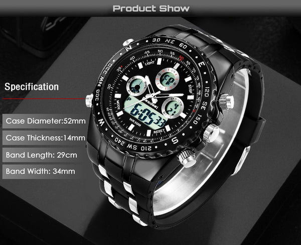 Readeel Top Brand LED Mens Quartz Military Digital Watch Men Sports Watches  Fashion Casual Wristwatches relojes hombre 2018