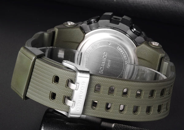 BOAMIGO Men Sport Military Army Wristwatches Man Quartz Wristwatches LED Digital