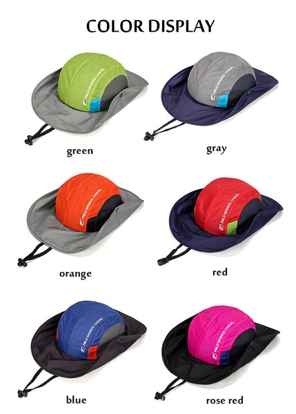 Quick-drying Lightweight UPF50+ UV Protection Summer Bucket Hat Men Women Sun Hat Breathable Mesh Boonie Cap Outdoor Foldable