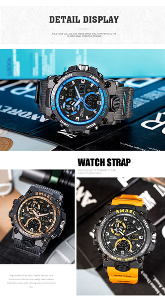 Sport Watch Men SMAEL Brand Toy Mens Wristwatches Military Army S Shock 50m Waterproof