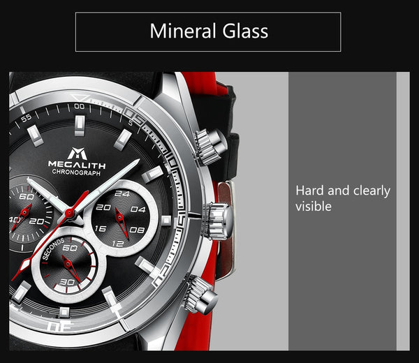MEGALITH fashion mens watches top brand luxury sports waterproof watches army military watch male quartz relogio masculino