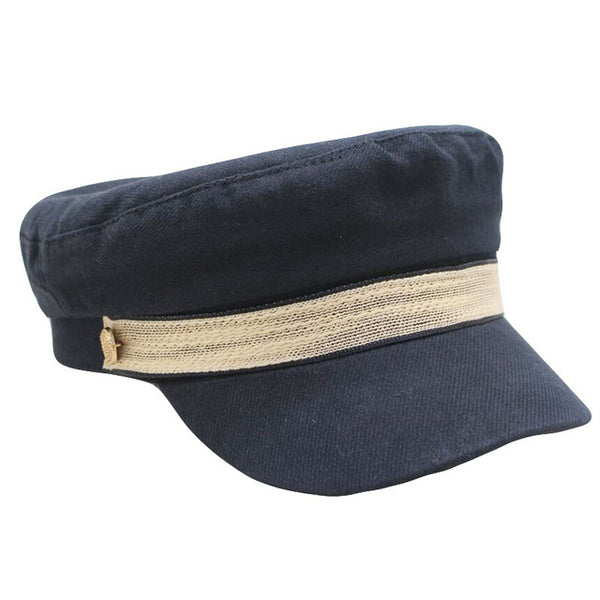 2019 New Felt Beret Hats Women Wool Military Hat Visor Army Caps Twist Belt Capitan Hat for Men Sailor Hats Flat Top Sea Cap