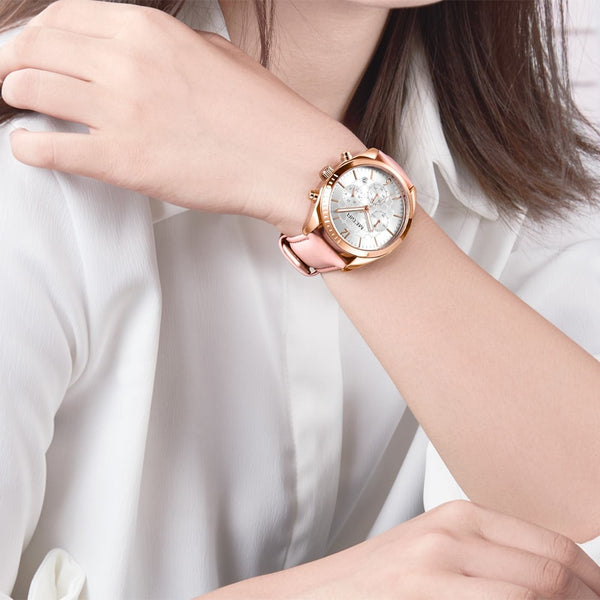 MEGIR Women Wristwatches Top Brand Luxury Female Clock Montre Femme  Fashion Pink Quartz Ladies Wristwatch Lover Gifto