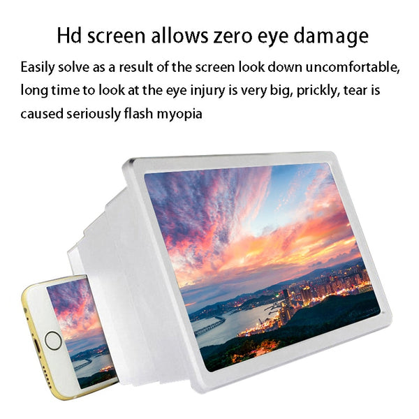 ERILLES Fashion 3D Phone Screen Expander Magnifier Amplifier Portable Universal Mobile Screen Enlarged For Loupe Smarephone