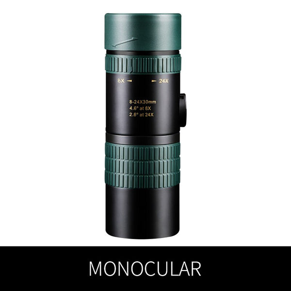 travel trace Scalable 8-24X30 Monocular Zoom Telescope for Smartphone Hunting Optics Powerful HD Objective Variable Magnification Stepless