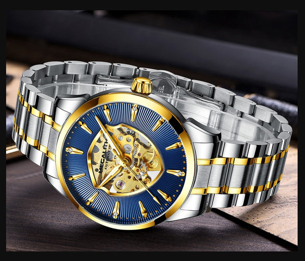 MEGALITH luxury automatic mechanical watch business casual mens watch top brand sport watches men gift wirstwatch reloj hombres