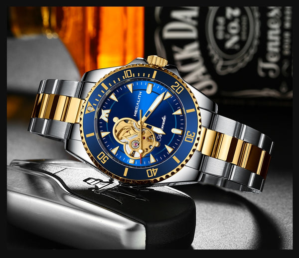 MEGALITH 2020 Automatic Men's Watches Top brand luxury men watch mechanical wristwatch men waterproof reloj hombre 8209