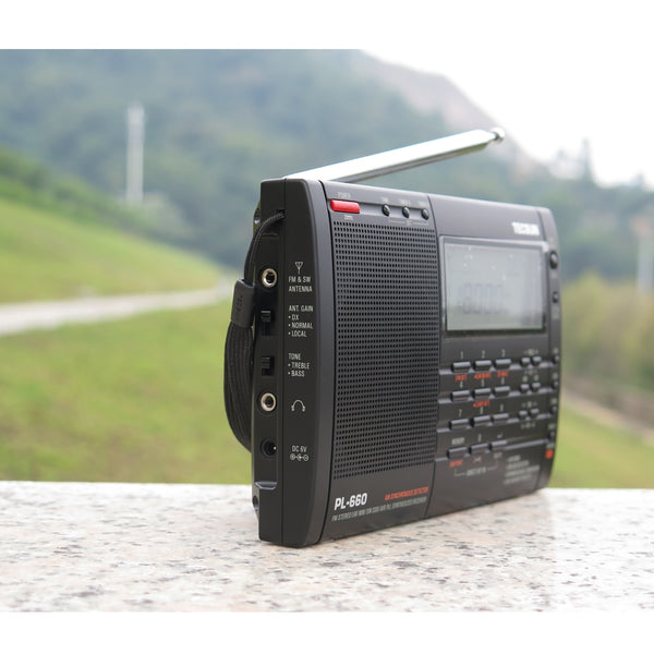 TECSUN PL-660 Radio PLL SSB VHF AIR Band Radio Receiver FM/MW/SW/LW Radio Multiband Dual Conversion Internet Portable Radio