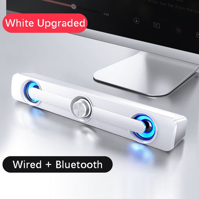 USB Wired Powerful Computer Speaker Bar Stereo Subwoofer Bass speaker Surround Sound Box for PC Laptop phone Tablet MP3 MP4