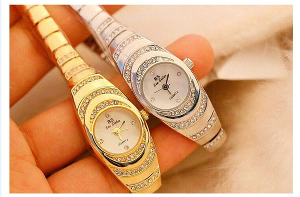Women Watches Luxury Brand Dress Casual Quartz Small Dial Ladies Wrist Watches Rhinestone Rose Gold Watches For Women 2019