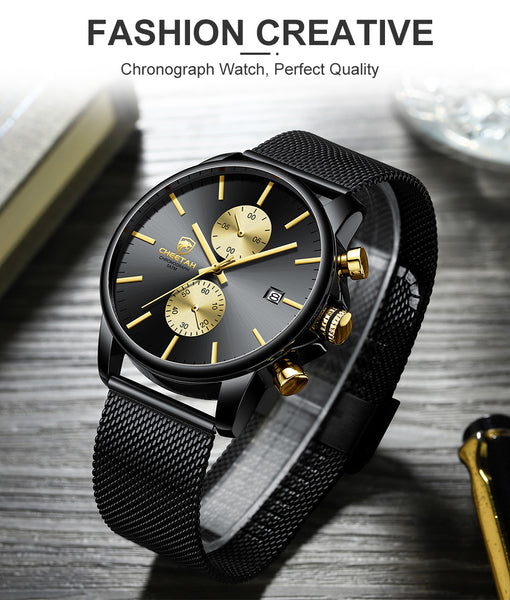 CHEETAH Men's Watches Top Luxury Brand Sports Waterproof Quartz Watch Men Chronograph Business Wristwatch Relogio Masculino