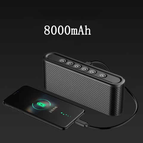Bluetooth Speaker With 8000mAh Power Bank Bass Stereo Music Center Subwoofer Wireless 10W USB Radio MP3 Portable Car Speaker