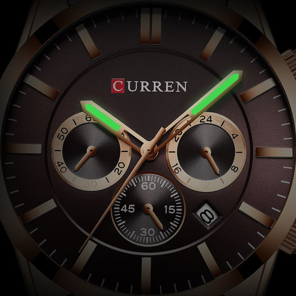 Men Watch CURREN Top Brand Luxury Fashion Quartz Men's Watches Waterproof Chronograph Male Date Sports Relogio Masculino