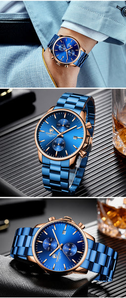 New Mens Watches CHEETAH Stainless Steel Sports Quartz Watch Men Top Brand Luxury Waterproof Date Male  Relogio Masculino