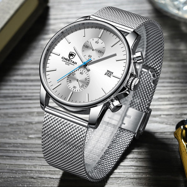 Relogio Masculino CHEETAH New Watch Design Business Quartz Men's Watches Top Brand Luxury Stainless Steel Waterproof Wristwatch