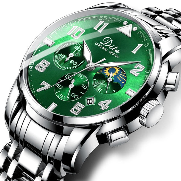 2020 New Top Brand Luxury Fashion Mens Watches Stainless Steel Sports Chronograph Quartz Watch Men Relogio Masculino