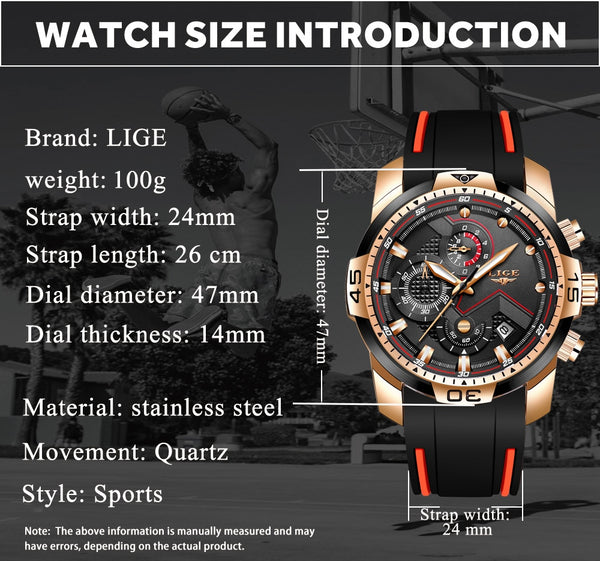 2020 LIGE New Mens Watches Top Luxury Brand Men Unique Sport Watch Men Quartz Date Waterproof Wristwatch Relogio Masculino