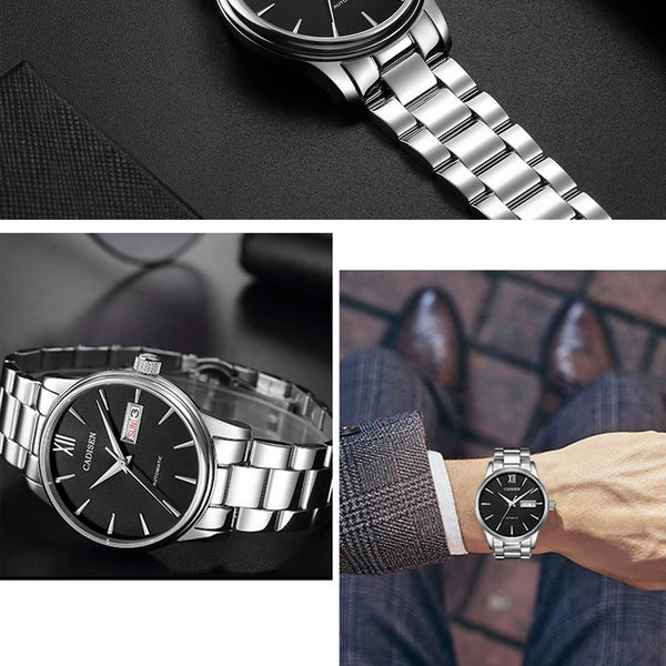 CADISEN Men Watch Automatic Mechanical Watches Japan NH36A