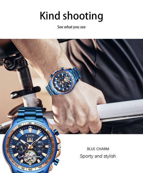 LIGE 2020 New Fashion Mens Watches Top Brand