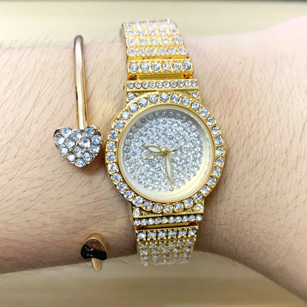 BS Women Watch Famous Luxury Brands Ladies Wrist Watches Female Small Wristwatch Rose Gold Watch Women Montre Femme 2019