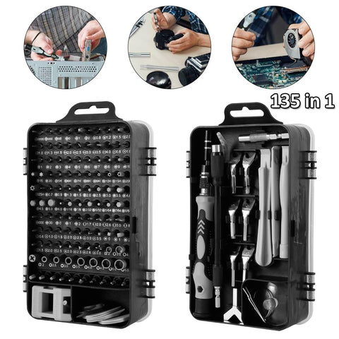 135 in 1 Screwdriver Set of Screw Driver Bit Set Multi-function Precision Screwdriver Bit Set for iPhone Fix Tool Repair Device