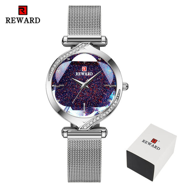 REWARD Fashion New Women Watches Top Luxury Brand Women's Quartz Watch Stainless Steel Waterproof Ladies Bracelet Wristwatch