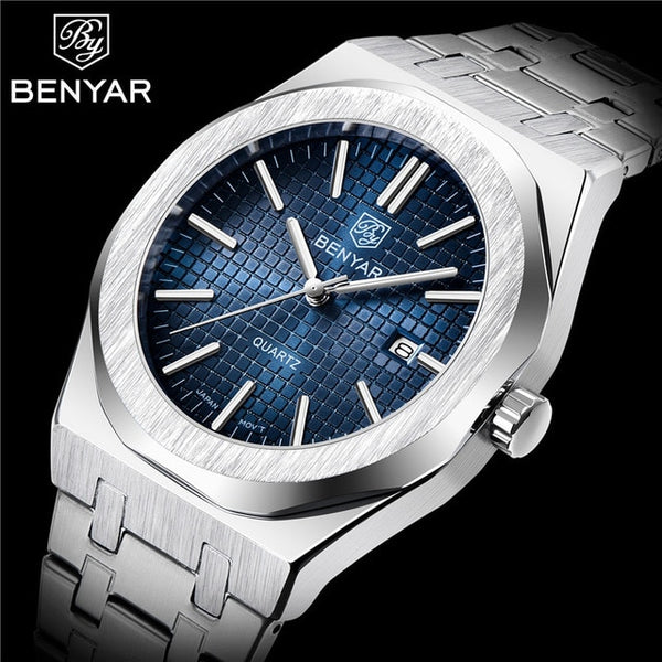 BENYAR 2020 new luxury brand fashion men's quartz watch waterproof stainless steel luminous men's sports watch Relogio Masculino