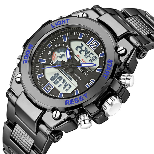 Stryve Brand S8014/S8018 Military Wristwatch 12/24 Hour Chrono  Waterproof Digital Quartz Sports Mens Watches montre homme