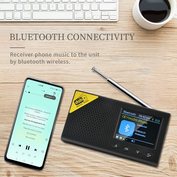 2020 New 1Set Portable Bluetooth Digital Radio DAB/DAB+ and FM Receiver Rechargeable Lightweight Home Radio
