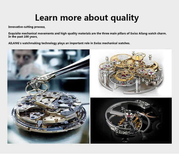 2020 New AILANG Brand Men Automatic mechanical Watches Top Leatehr Waterproof Steampunk Watches Mens Skeleton Rome Relogio