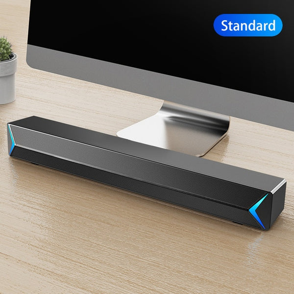 D6 Speakers TV Sound Bar USB Wired and Wireless Bluetooth Home Theater FM Radio Surround SoundBar for PC TV Speaker for Computer