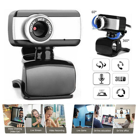 HD Zoom Webcam With Mic USB 2.0 Web Camera Microphone For Desktop Laptop PC Mac Consumer Electronics Camera Photo