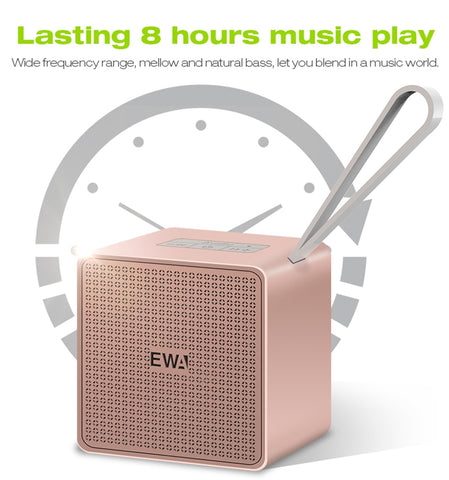 EWA A105 mini Bluetooth Speakers TWS Built-in Battery Portable Wireless for Smart Phone/Tablet/Pad Support MicroSD Card