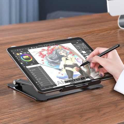 Tablet Drawing Stand, Digital Tablets Drawing Base Height/Angle Adjustable Laptop Holder Foldable Ergonomic Notebook Support