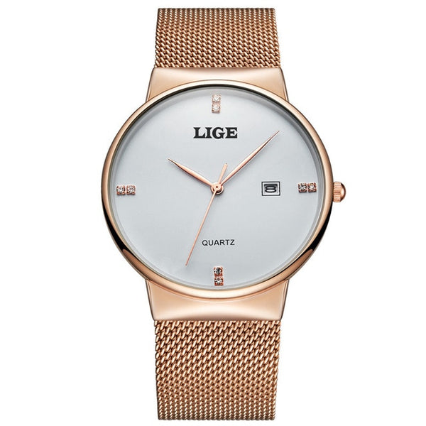 New LIGE Mens Wristwatches, 4 Styles