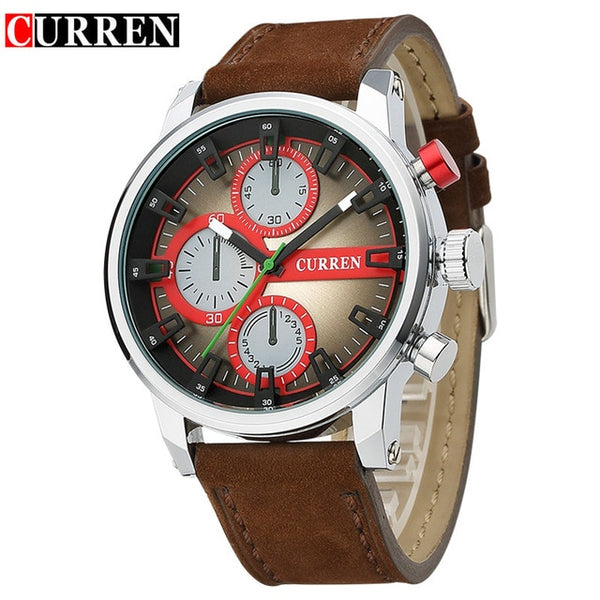 Curren New Men Wristwatches Military Leather Wristwatch Men's Quartz Sport Wristwatches