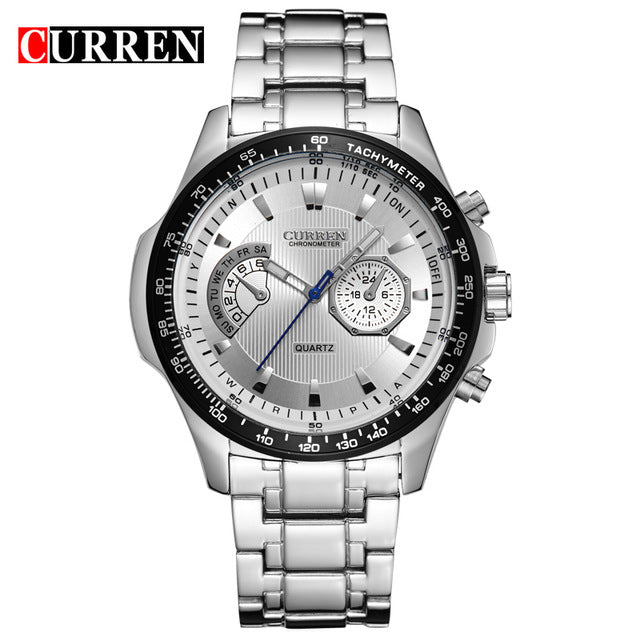 Curren quartz Black  Vogue Business Military Man Men's Wristwatches 3ATM waterproof Dropship 8020