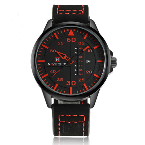 NAVIFORCE Fashion Casual Mens Wristwatches Top Brand Luxury Leather Business Quartz-Wristwatch Men Wristwatch Male