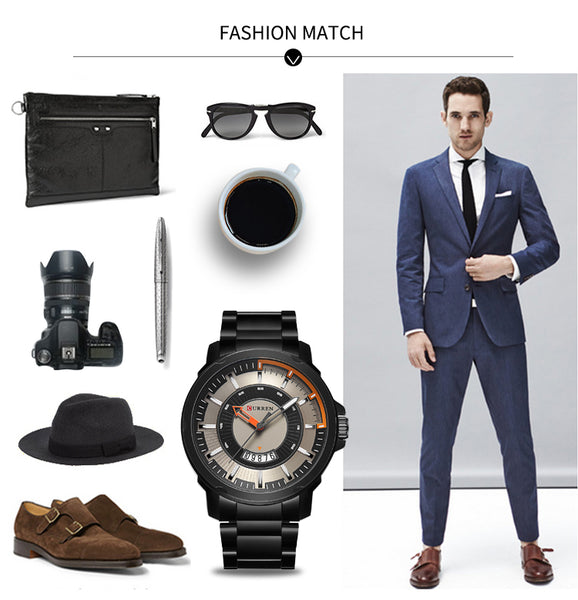 NEW CURREN watches men Top Brand fashion watch quartz Business watch male   men Army sports Analog Casual date