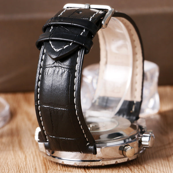 JARAGAR Fashion Brand Business Wristwatch Men Luxury Crocodile-Embossed Leather  Wristwatches Automatic Mechanical Calendar Men