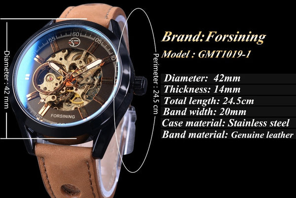 Forsining  Casual Sport Series Waterproof Automatic Men  Wristwatch Top Brand Luxury Mechanical Military Skeleton Wristwatches