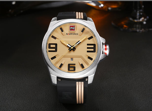 NAVIFORCE New Wristwatch Men Sport Quartz Wristwatches Colorful Fashion and Casual Wristwatches Clearly See Analog Male