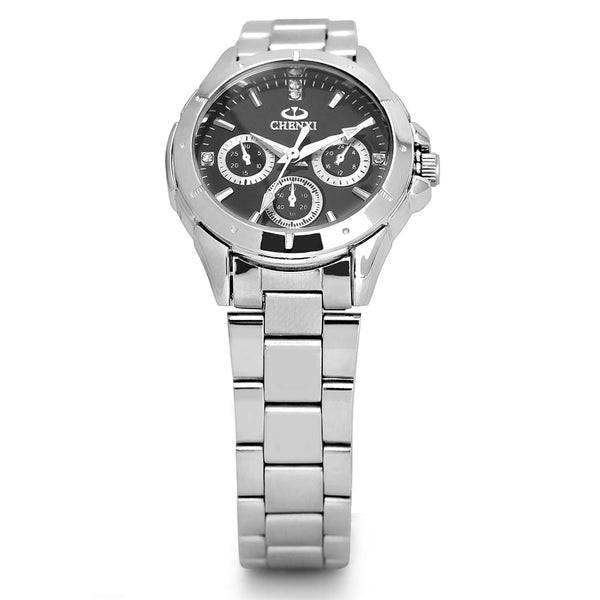 Sell watches women fashion luxury watch fashion All Stainless Steel High Quality Diamond Ladies Wristwatch Women Rhinestone Wristwatches