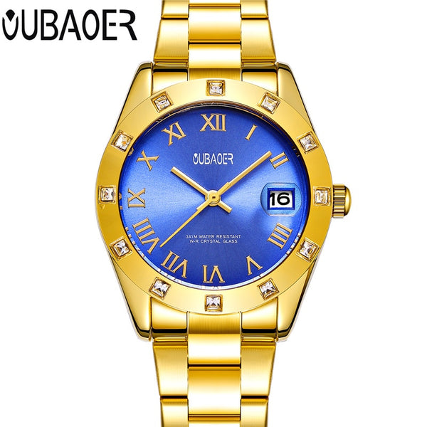 OUBAOER Luxuryo Waterproof Women Wristwatch Ladies Quartz Wristwatch Women Wristwatch Montre Femme Reloj Mujer