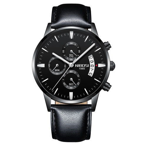 NIBOSI Relogio Masculino Men Watches Luxury Famous Top Brand Men's Fashion Casual Dress Watch Military Quartz