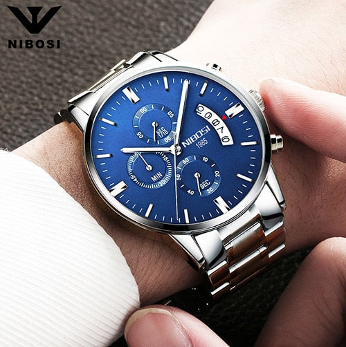 NIBOS Men Wristwatch Top Brand Men's Wristwatch Military Quartz Hot Sports I